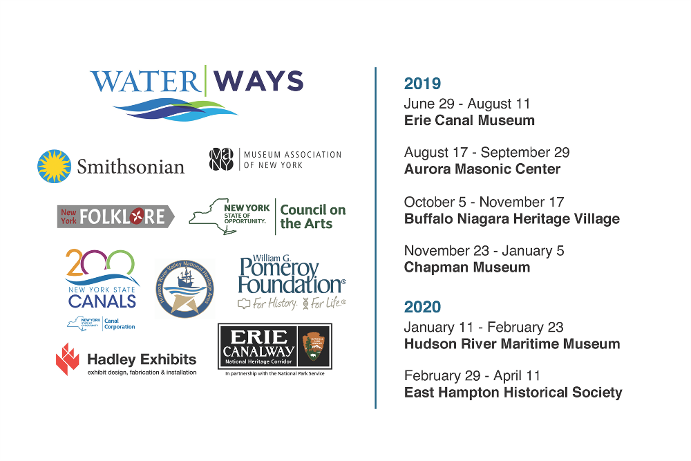 Water/Ways logos and dates