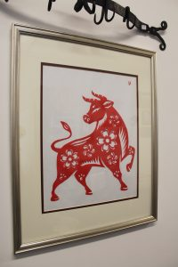 Chinese papercut of an ox